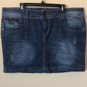Torrid Denim Unique Mini Skirt